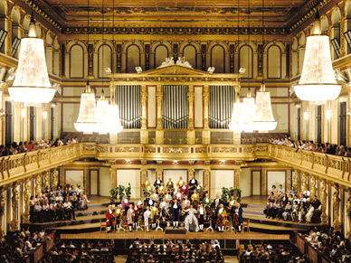Vienna Mozart Orchestra in the world-famous Musikverein (Golden Hall)